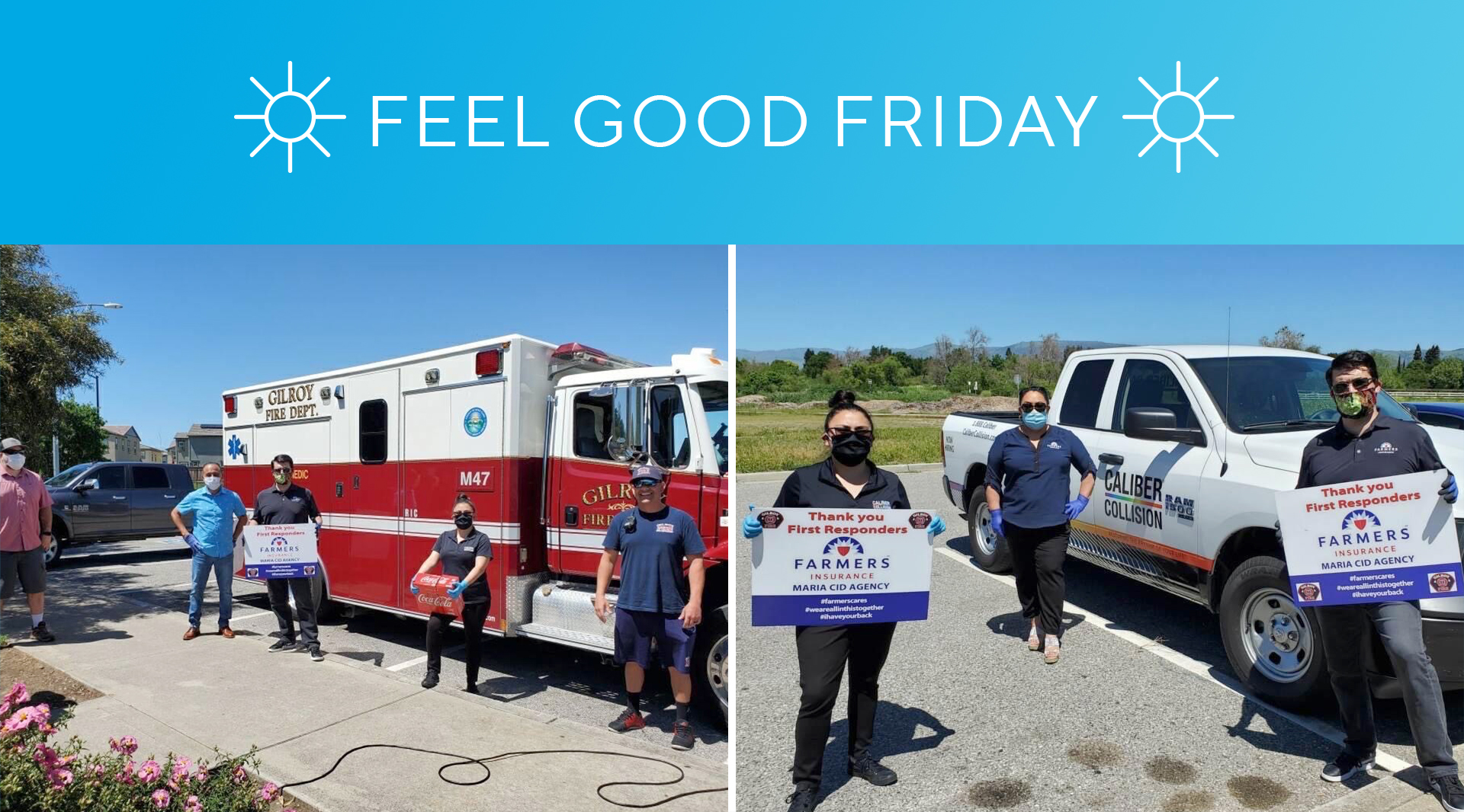 #FeelGoodFriday: Caliber Collision partners with Farmers Insurance to deliver hot meals to first responders landscape