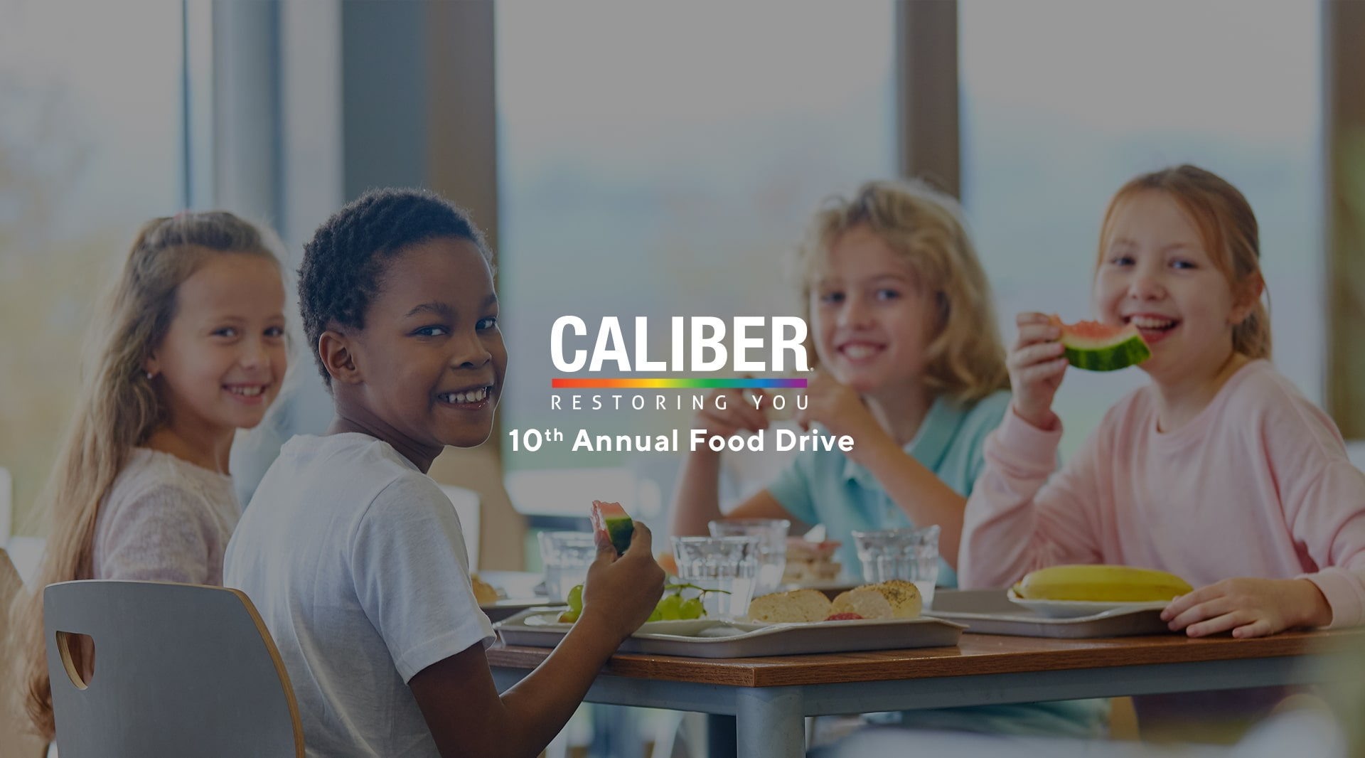 Help Us Alleviate Child Hunger: Caliber Kicks Off 10th Annual Food Drive landscape